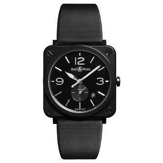Bell & Ross BR-S men's ceramic black strap watch - Product number 3511308