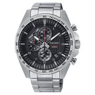Seiko Chronograph Men's Stainless Steel Bracelet Watch - Product number 3511758