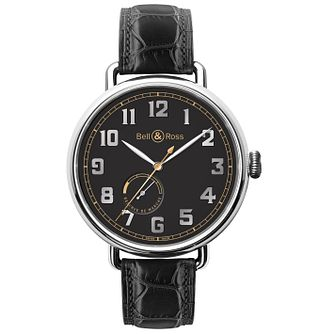 Bell & Ross BRWW men's stainless steel black strap watch - Product number 3512592