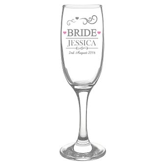Personalised Mr & Mrs Bride Glass Flute - Product number 3513203