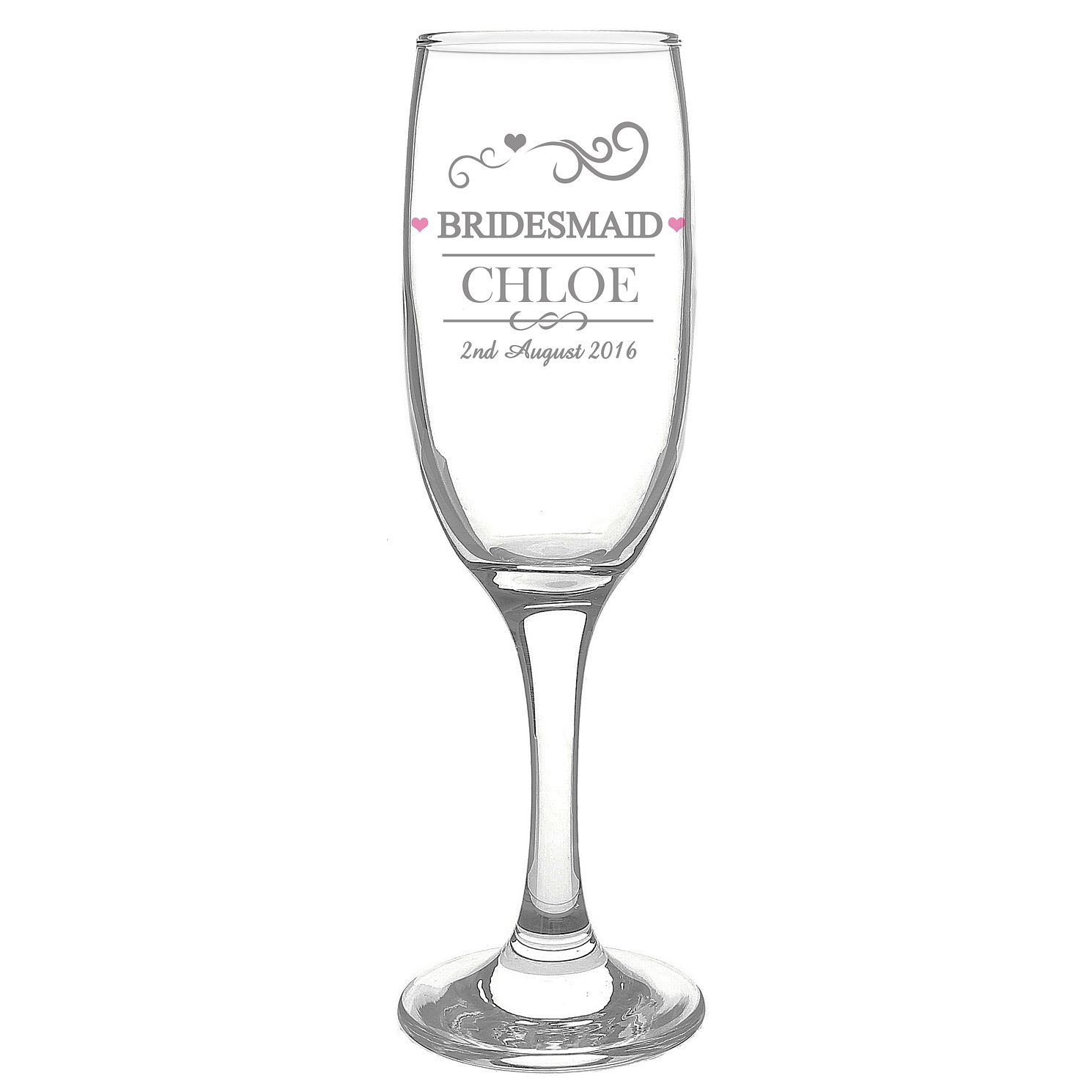 Personalised Mr & Mrs Bridesmaid Flute - Product number 3513211