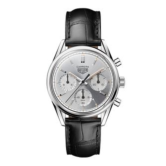 TAG Heuer Carrera Men's Black Leather Buckle Watch - Product number 3514641