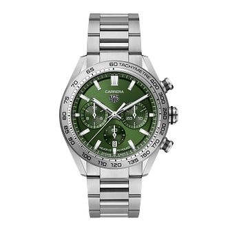 TAG Heuer Carrera Men's Stainless Steel Bracelet Watch - Product number 3514730