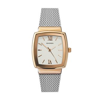 Sekonda Ladies' Two Tone Mesh Bracelet Watch - Product number 3517527