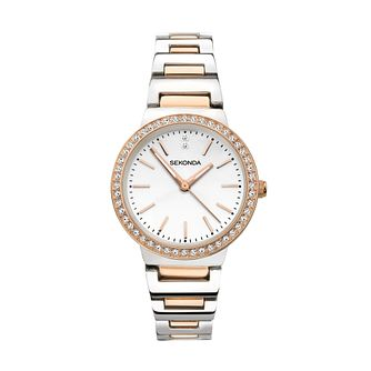 Sekonda Crystal Ladies' Two Tone Bracelet Watch - Product number 3517543