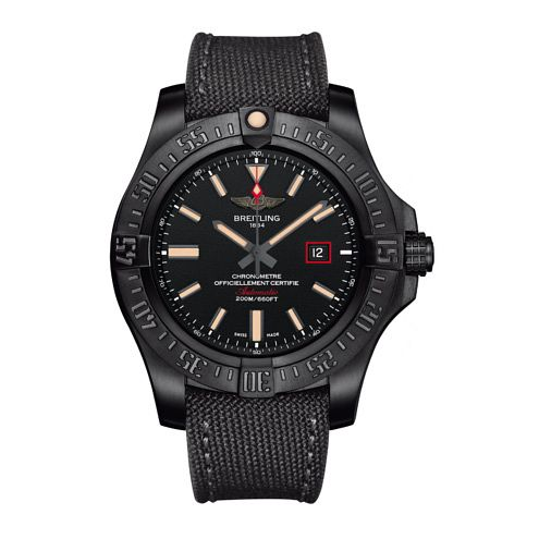Breitling Avenger II Blackbird Men's Fabric Strap Watch - Product number 3518442