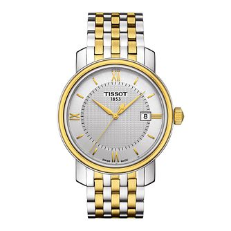 Tissot Bridgeport men's two colour bracelet watch - Product number 3518833