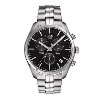 Tissot Pr100 Men's Stainless Steel Bracelet Watch - Product number 3519260