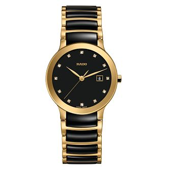 Rado Centrix Diamond Ladies' Two Tone Ceramic Bracelet Watch - Product number 3524515