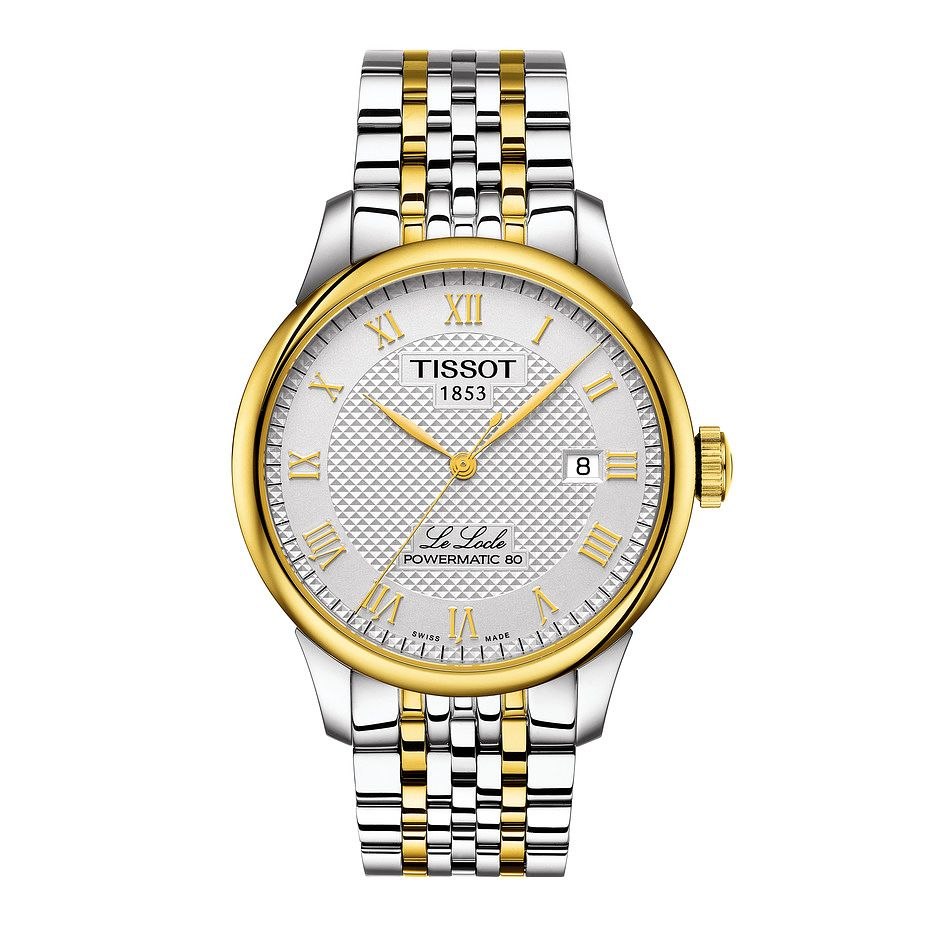Tissot Le Locle Powermatic 80 Men's Two Tone Bracelet Watch - Product number 3527492
