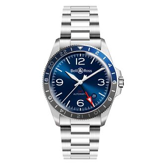 Bell & Ross BR V Men's Blue Stainless Steel Watch - Product number 3527964