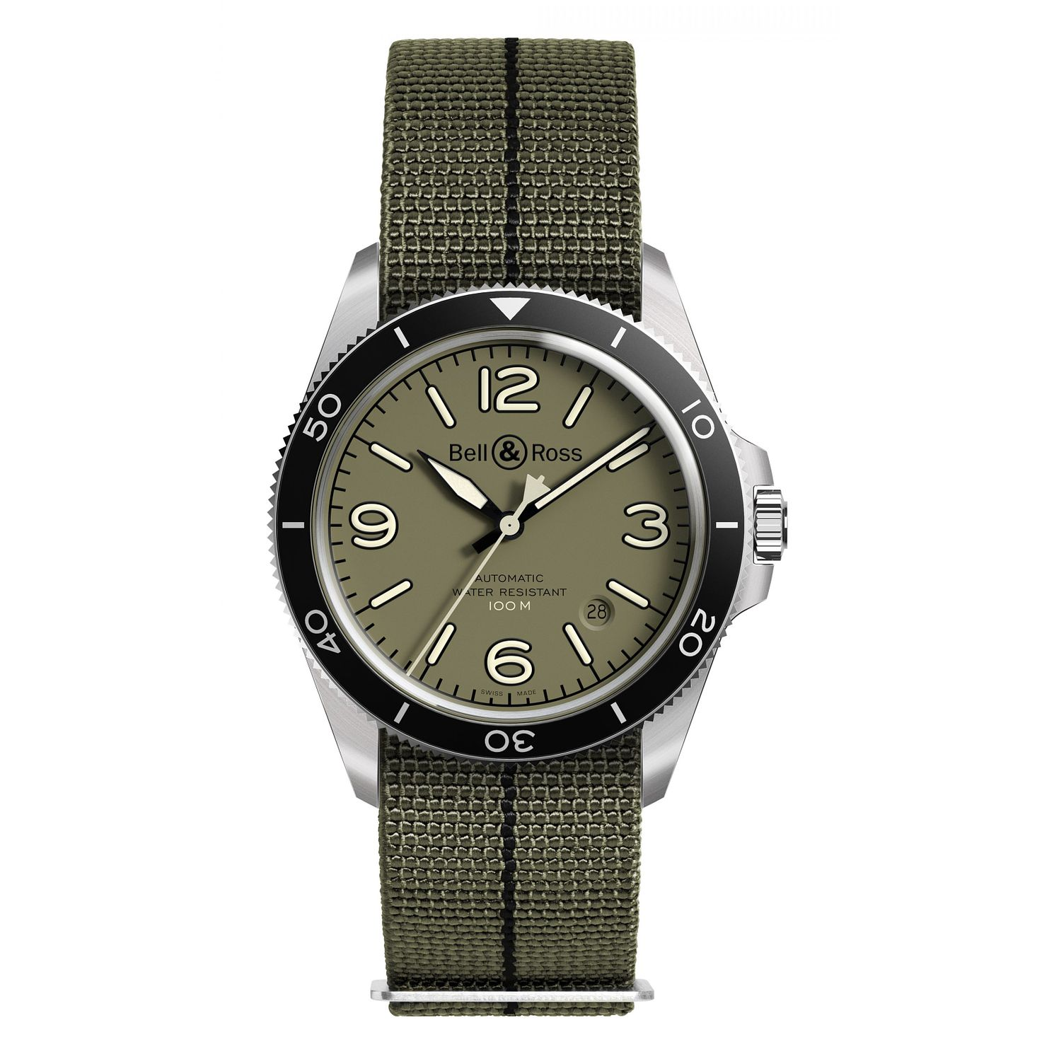 Bell & Ross BR V Military Green Men's Strap Watch - Product number 3528049