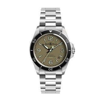 Bell & Ross BR V Military Green Men's Stainless Steel Watch - Product number 3528057