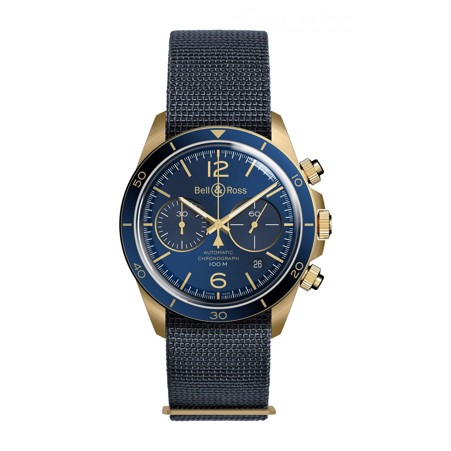 Bell & Ross BR V Military Blue Men's Bronze Watch - Product number 3528065