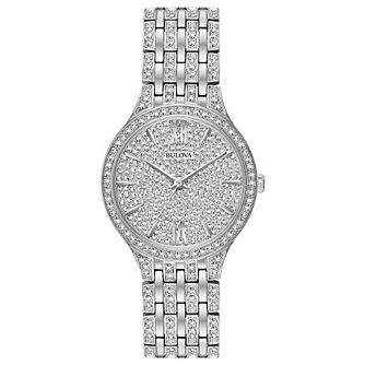 Bulova Crystal Ladies' Stainless Steel Bracelet Watch - Product number 3532186