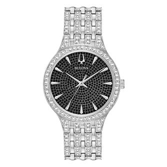 Bulova Crystal Men's Stainless Steel Bracelet Watch - Product number 3532437
