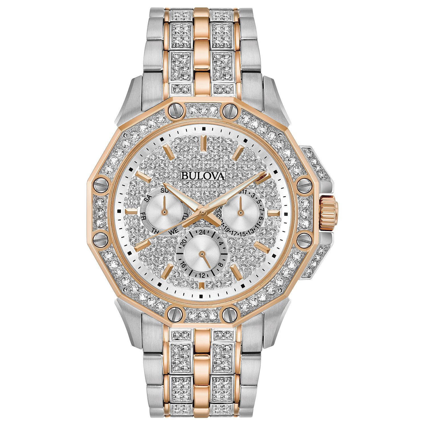 Bulova Crystal Men's Two Tone Bracelet Watch - Product number 3532461