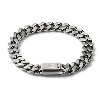 Bulova Stainless Steel Curb Chain Bracelet - Product number 3532755