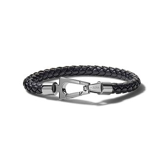 Bulova Marine Star Black Leather Rope Bracelet - Product number 3532941