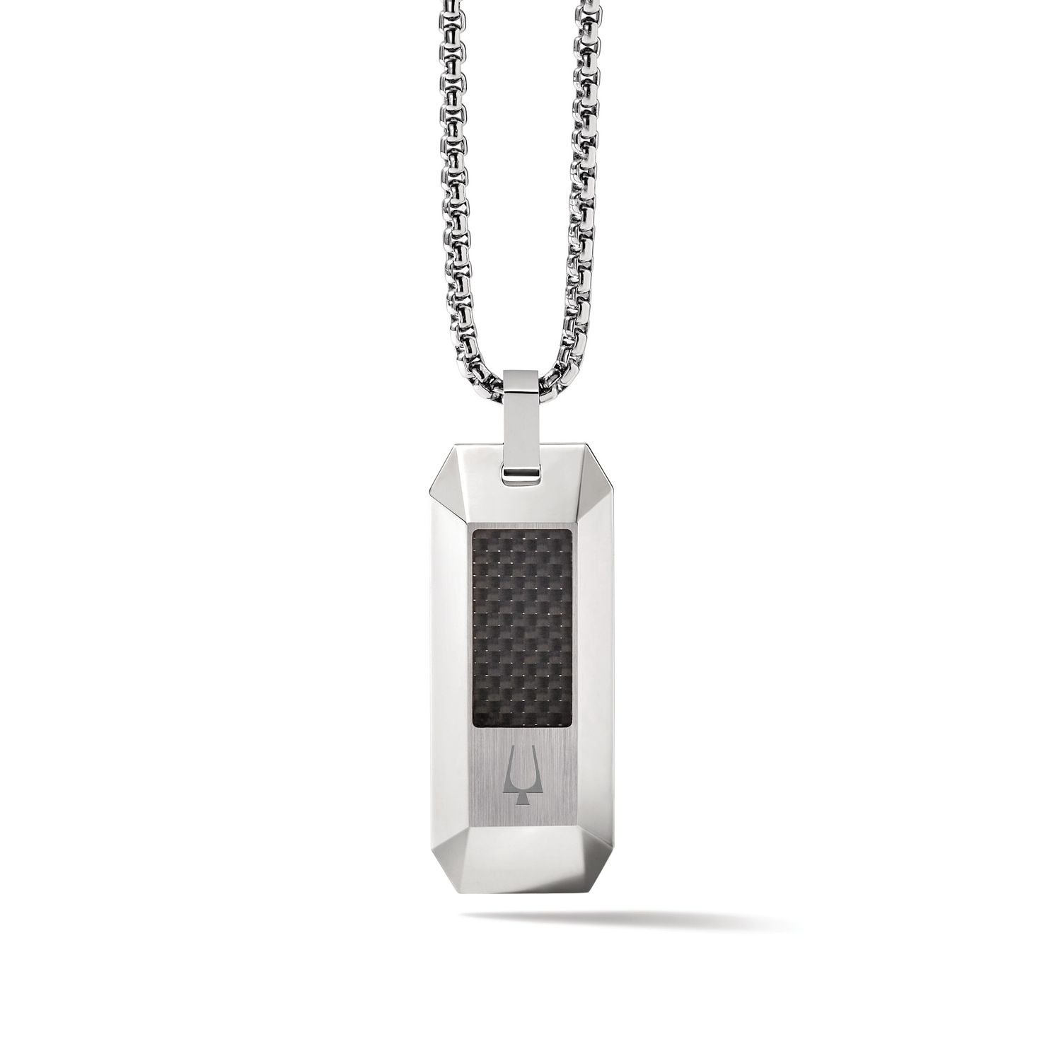 Bulova Precisionist Black Carbon & Stainless Steel Dog Tag - Product number 3532976