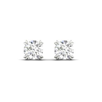 Platinum & White Gold 0.20ct Diamond Solitaire Earrings - Product number 3534138