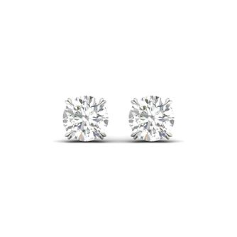 Platinum & White Gold 1/4ct Diamond Solitaire Earrings - Product number 3534987