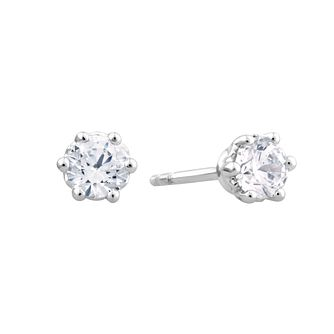 Arctic Light Platinum 1/2ct Diamond Solitaire Stud Earrings - Product number 3538079