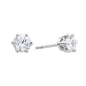 Arctic Light Platinum 3/4ct Diamond Solitaire Stud Earrings - Product number 3539075