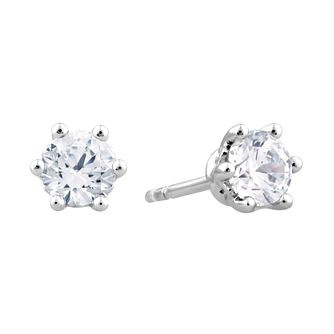 Arctic Light Platinum 0.66ct Diamond Solitaire Stud Earrings - Product number 3539083