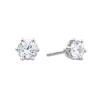 Arctic Light Platinum 1ct Diamond Solitaire Stud Earrings - Product number 3539091