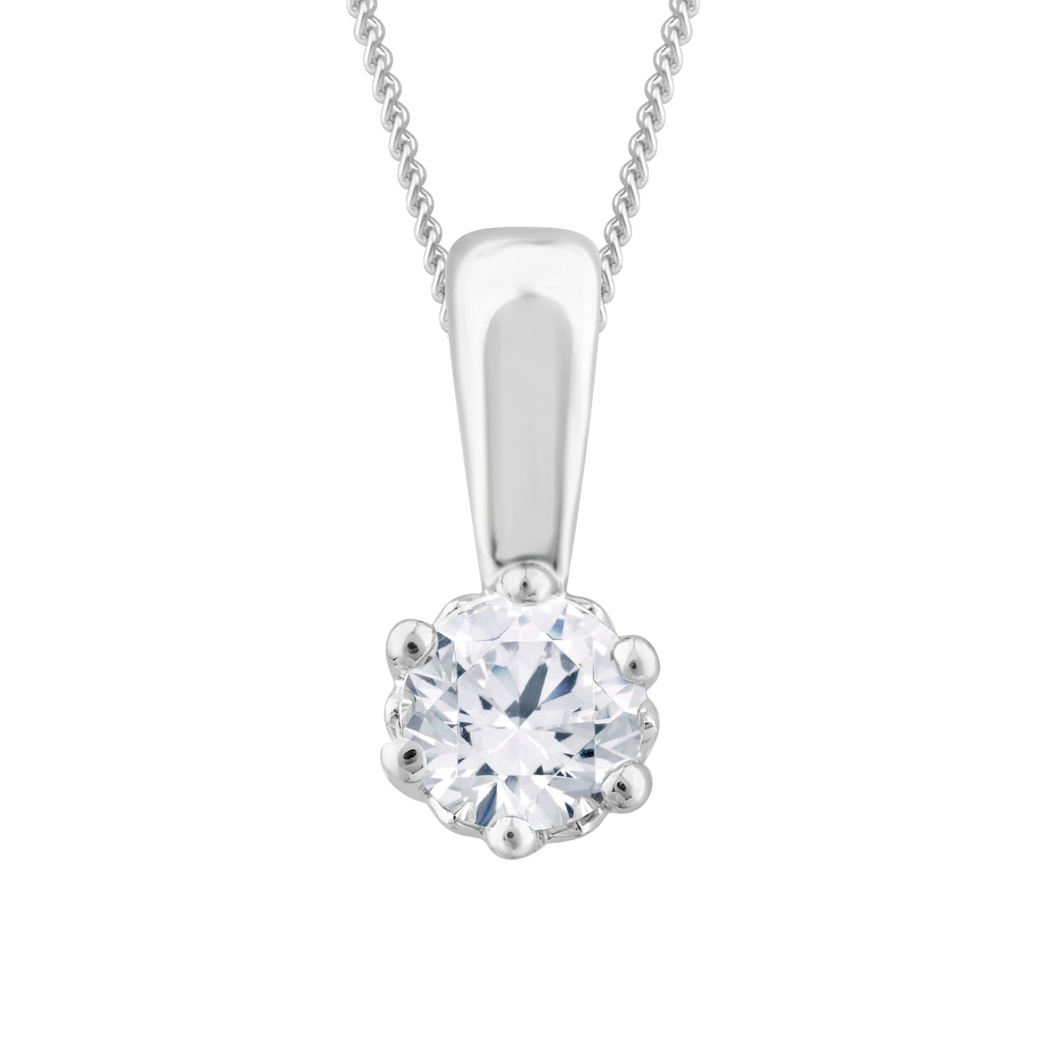 Arctic Light Platinum 0.25ct Diamond Solitaire Pendant - Product number 3539121