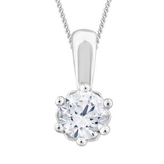 Arctic Light Platinum 0.50ct Diamond Solitaire Pendant - Product number 3539164