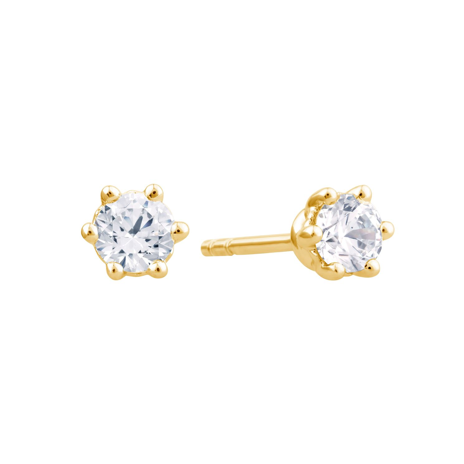 Arctic Light 18ct Yellow Gold 0.33ct Diamond Stud Earrings - Product number 3541134