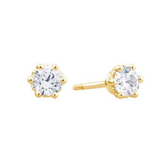 Arctic Light 18ct Yellow Gold 0.50ct Diamond Stud Earrings - Product number 3541592