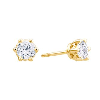 Arctic Light 18ct Yellow Gold 0.75ct Diamond Stud Earrings - Product number 3542122