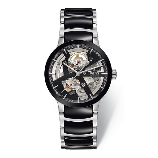 Rado Centrix Men's Skeleton Two Tone Bracelet Watch - Product number 3542157