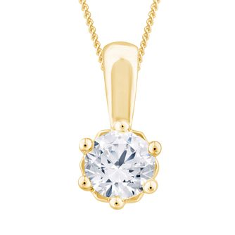Arctic Light 18ct Yellow Gold 0.50ct Diamond Pendant - Product number 3542319