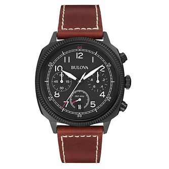 Bulova Military men's ion-plated black strap watch - Product number 3542556