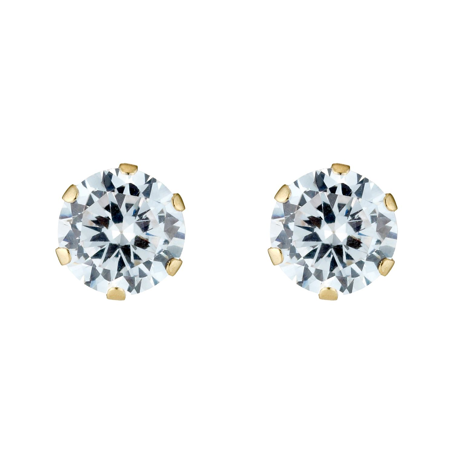 9ct Gold Cubic Zirconia Stud Earrings - Product number 3548872