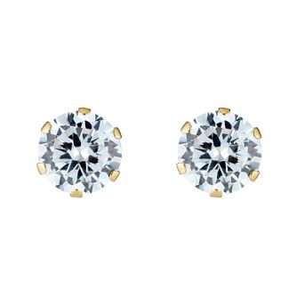 9ct Gold Solitaire Cubic Zirconia Stud Earrings - Product number 3548872