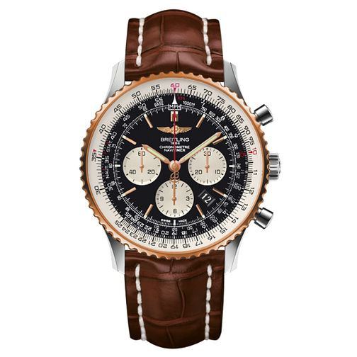 Breitling Navitimer 01 men's brown leather strap watch - Product number 3549801