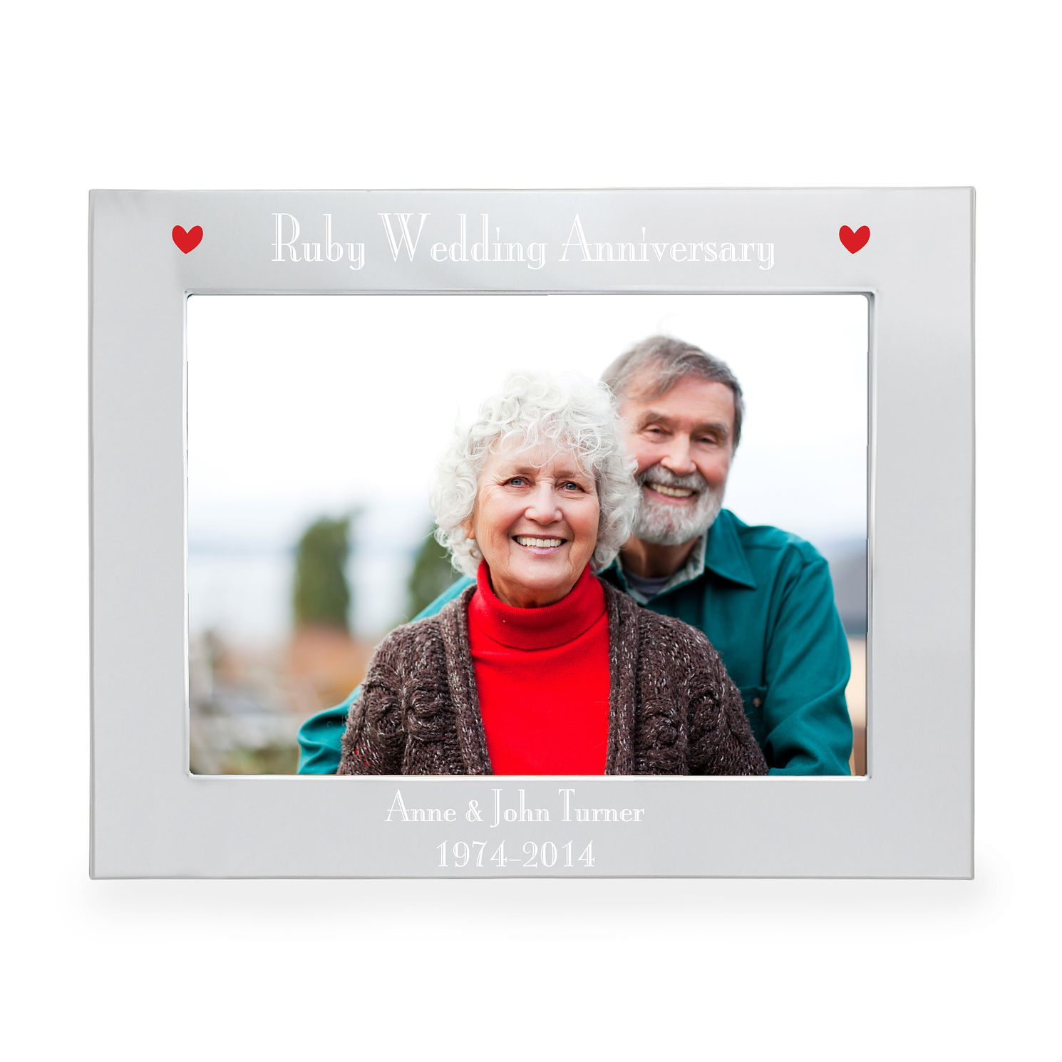 Engraved Ruby Anniversary 5x7 Frame - Product number 3549933