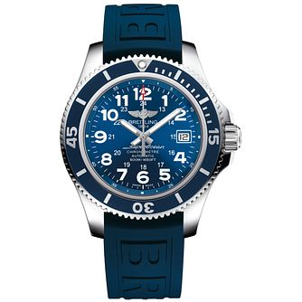 Breitling Superocean Ii 42 Men's Blue Rubber Strap Watch - Product number 3558584
