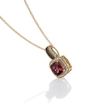 Le Vian 14ct Honey Gold Diamond Rhodolite Pendant - Product number 3565874