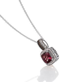 Le Vian 14ct Vanilla Gold Diamond Rhodolite Pendant - Product number 3565882