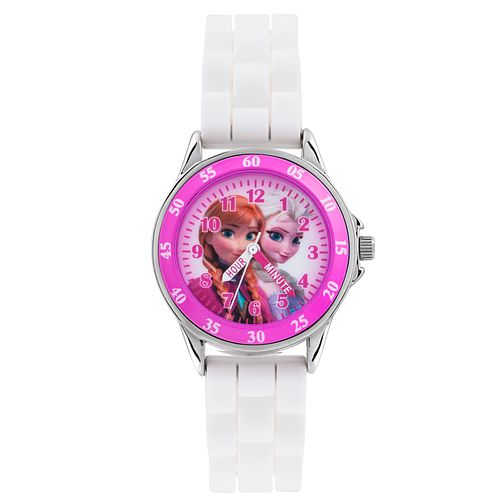 Children's Frozen Time Teacher White Rubber Strap Watch - Product number 3566056