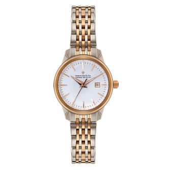 Dreyfuss & Co Ladies' Two Colour White Dial Bracelet Watch - Product number 3569497