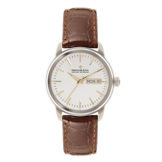 Dreyfuss & Co Men's Brown Leather Strap Watch - Product number 3569500