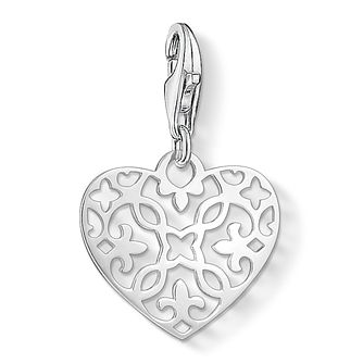 Thomas Sabo Ladies' Sterling Silver Filigree Heart Charm - Product number 3572722