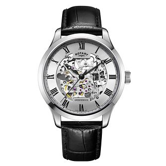 Rotary men's stainless steel skeleton watch - Product number 3573567